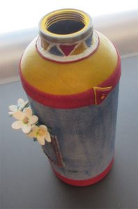 Faux Denim Pocket Bottle