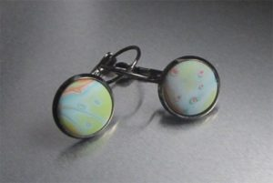 Sea Foam Button Earrings