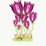 Folk Art Dancing Tulips
